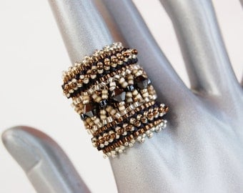 Ethnic Crystal Swarovski - Ethnic Ring - Ring Crystal Ring