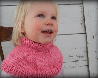 Knitted Toddler Cowl Caplet Capelet Scarf/ Free Shipping