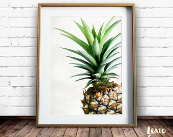 Pineapple Print, Tropical Print, Pineapple Photo, Colour, Fruit Print, Pineapple Wall Art, Printable Wall Art, Instant Download