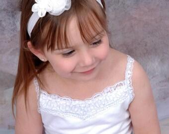 Flower Headband, Cute Bows, Flower Bow, White Flowers, Girls Headband, Baby Headband, Girls, Baby Girl, Headbands, Bows, Girls Bow, Baby Bow