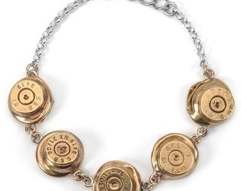 Bullet Casing Statement Bracelet-5