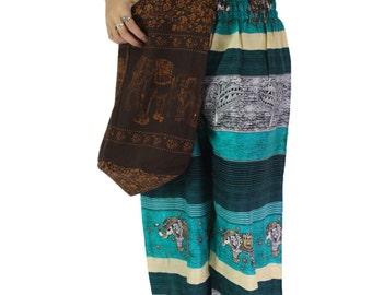 shoulder bag elephant bag cross body bag hippie bag in dark brown