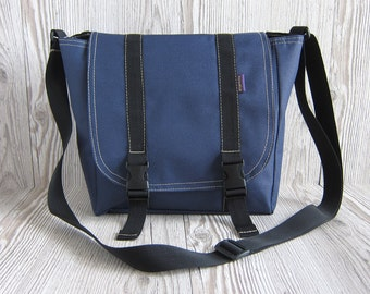 Navy messenger bag, Crossbody bag Shoulder purse Navy Dark blue Waterproof