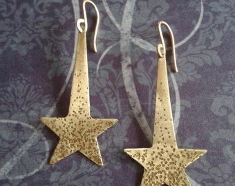 Brass Shooting stars earrings