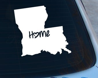 Louisiana Decal - State Decal - Home Decal - LA Sticker - Love - Laptop - Macbook - Car Decal