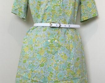 Vintage 1950s Sears Fashions Floral Dress