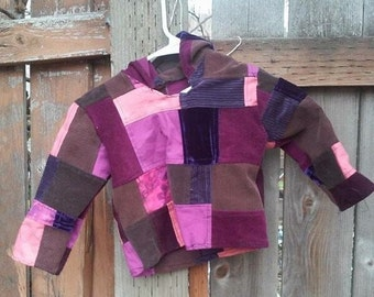 Toddler patchwork hoodie 2T