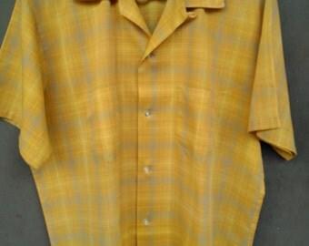 Men's L Vintage TOWNCRAFT Loop Collar Perma-Prest