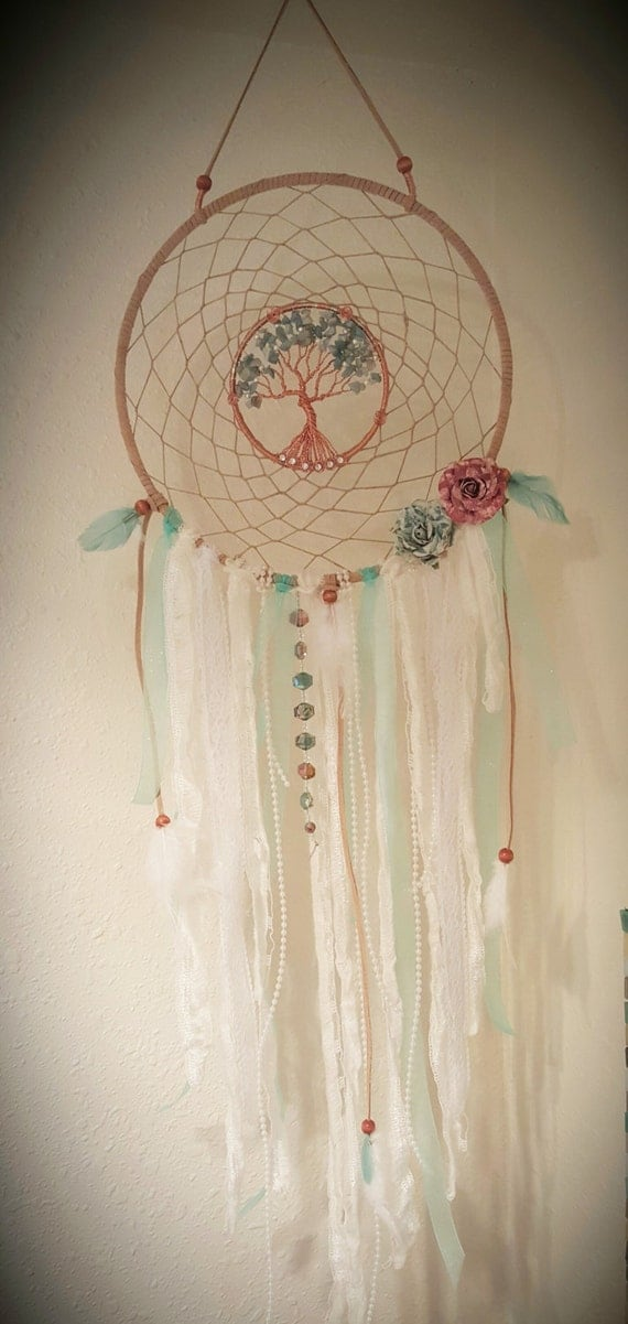 Tree Of Life Dream Catcher Vintage Wall Hanging Mint