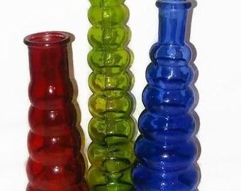 Assorted Glass Bottle Vases
