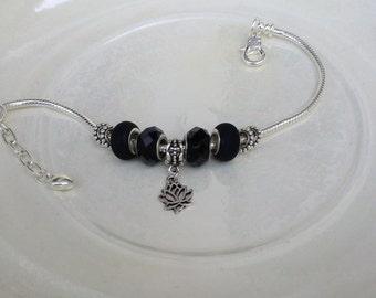 Divine Lotus Handmade Beaded Ankle Bracelet