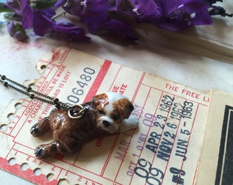 flippin' adorable baby bulldog puppy necklace, gift for your dog loving friend