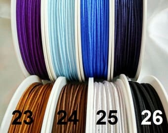5meters 3mm Czech Acetate SOUTACHE CORD 3mm Soutache BRAID-  braid soutache trim