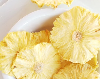 Organic Dried Pineapple Slices Five Flavors No Sugar Added Vegan Low Sugar Low Carb