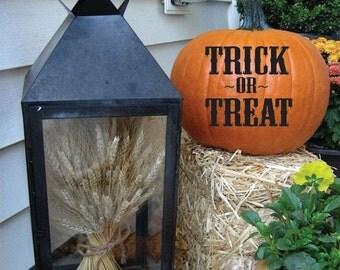 Pumpkin Decals | Halloween decor  | Trick or Treat Pumpkin Decals | Trick or Treat Halloween Decal | Fall | Pumpkin Decor | Holiday Stickers