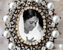 Amma Handmade Necklace Mata Amritanandamayi Jewelry Medal Pendant