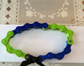 Seahawks bicycle chain bracelet