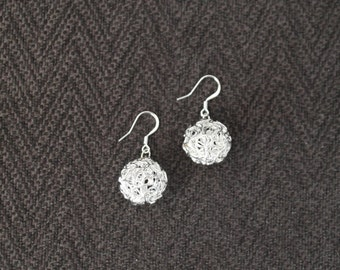 Silver squiggly earrings