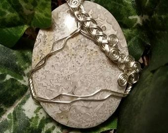 Ocean Jasper Wire Wrapped Pendant