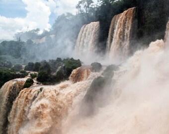 Brazil, Iguazu Falls, waterfall, ladscape photography, Brazil photography, large wall art print, professional photo, fine art #025
