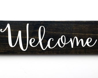 Wooden Welcome Sign | Custom Wood Stain | Wooden Signs | Home Decor