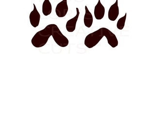 Coyote  Tracks SVG   cut file  t-shirts  animals wild life forest Huntingscrapbook vinyl decal wood sign t shirt cricut cameo