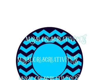 Cheveron monogram  Circle  SVG Cut file  Cricut explore filescrapbook vinyl decal wood sign cricut cameo Commercial use