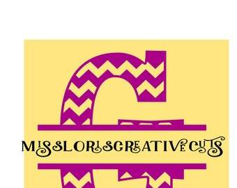 split letter CHEVRON  monogram  G  SVG Cut file  Cricut explore filescrapbook vinyl decal wood sign cricut cameo Commercial use