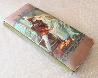 Antique Art Nouveau Celluloid Photo Album Cabinet Card Album Romantic Medieval Couple Embossed Cover