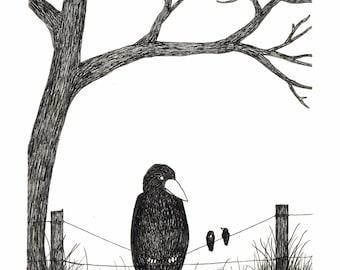 Big Bird, Little Birds - Prints