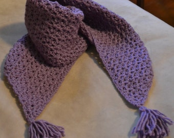Handmade Crochet Scarf for Young Girls