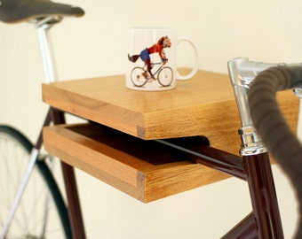 Hardwood bike rack & shelf *MINI* (handmade)
