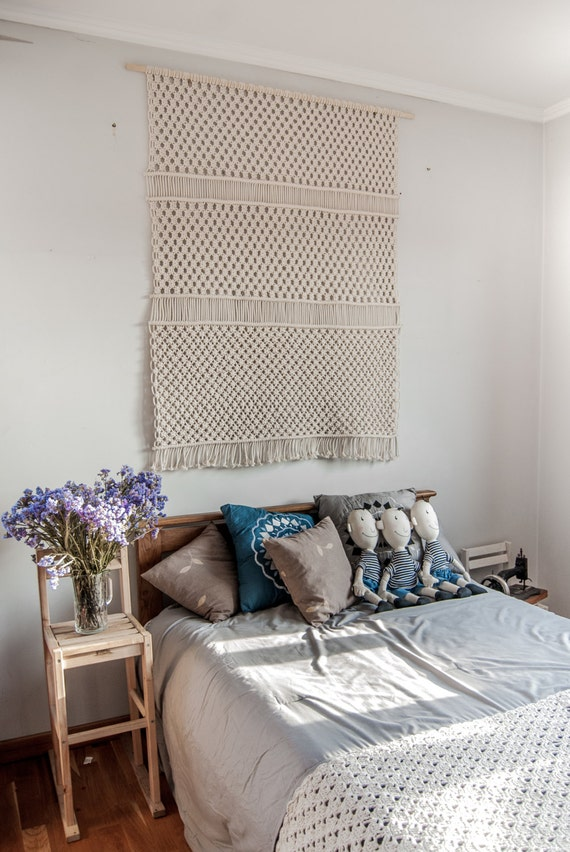 Large Macrame Wall Hanging Simple Beauty