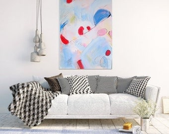 Minimalist Art, Abstract Art Print,  Abstract Painting , Abstract Art, Giclee Print, Blue Abstract, Pink Art, Wall Decor, Wall Art
