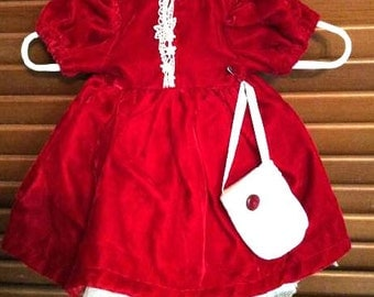 Party Dress with Petticoat and Purse