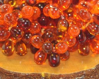 Czech Glass Drops 6x9mm 25 Beads