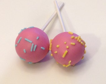 GLUTEN FREE Cake Pops Gourmet Solid Color Birthday Sprinkle Cakepops Made to Order High Quality Ingredients