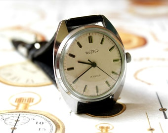 Men's Watch, Vintage Watch, Classic Soviet Watch, Russian Union Rare Mens WOSTOK, Wostok Watch, USSR-1970's, Mechanical watch, Gift for Him