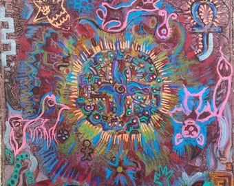 Items similar to LIFE - The cycle of Life - Original Polymer Clay Art painting - OOAK ...