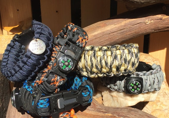 Survival Paracord Bracelet , multi styles, colors, and types available
