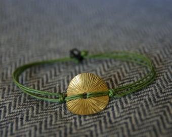 Bronze Disk Bracelet