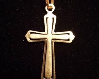 18K Yellow Gold Cross Crucifix Pendant