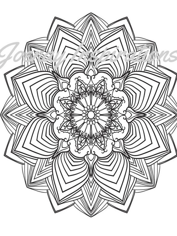 Adult Coloring Book, Printable Coloring Pages, Coloring Pages, Coloring Book for Adults, Instant Download Magnificent Mandalas 3 page 5