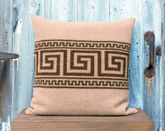 Salvaged Wool Aztec Pillow Cover