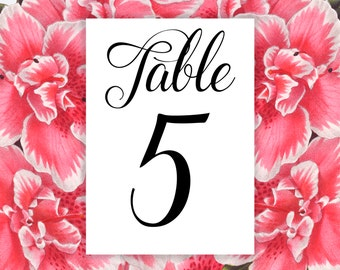Table Number Cards - Wedding Table Numbers - Wedding Table Cards - Table Numbers - Table Numbers Wedding - Wedding Reception Table Cards-