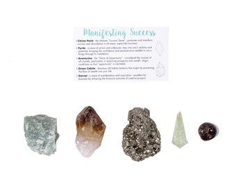 Manifesting Success Crystal Set / Crystals For Success / Healing Crystal Set / Success Crystal Set / Manifestation Crystals / Healing Stones