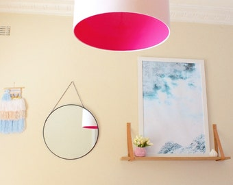Lamp Shade, Pink, White, Home Decor, Bright, Modern Lamp Shade, Lighting, Shade, Light, Pink & White, White and Yellow, White and Blue Bold