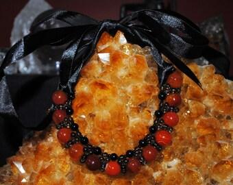 Carnelian Ribbon Necklace