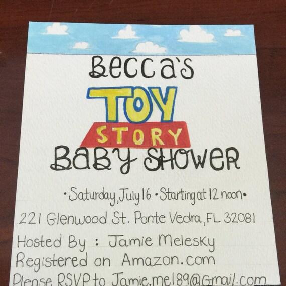 Toy Story Invitation Baby Shower Invitation Birthday By