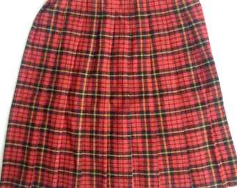 Russ Brand Plaid Red and Black skirt (size 8 Girls)